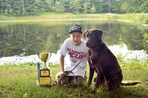Matt and Reese, trophy Buckeye Retriever Club